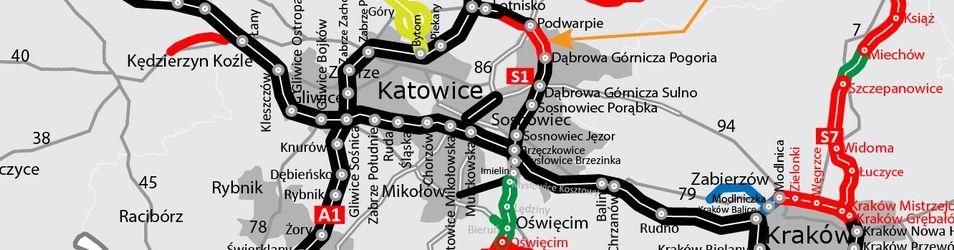 Droga ekspresowa S1 Podwarpie - Dąbrowa Górnicza 490365
