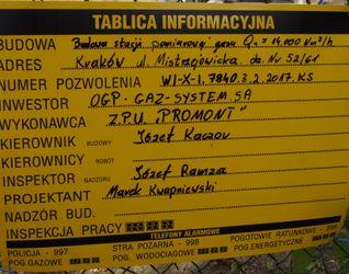 [Kraków] Stacja Pomiarowa Gazu, ul. Mistrzejowicka 446338