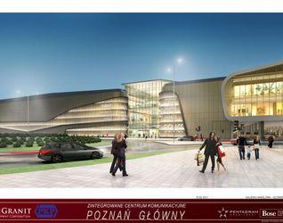"""[Poznań] Dworzec """"Poznań Główny"""" i galeria """"Poznań City Center"""" 13443"""