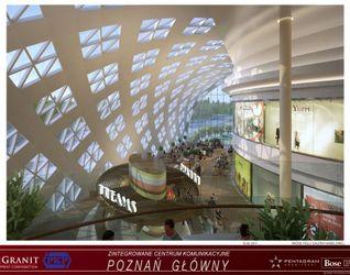 """[Poznań] Dworzec """"Poznań Główny"""" i galeria """"Poznań City Center"""" 13448"""