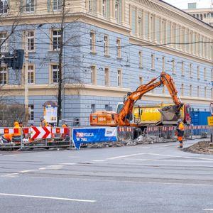 Remont rozjazdu tramwajowego Krupnicza Podwale 507022