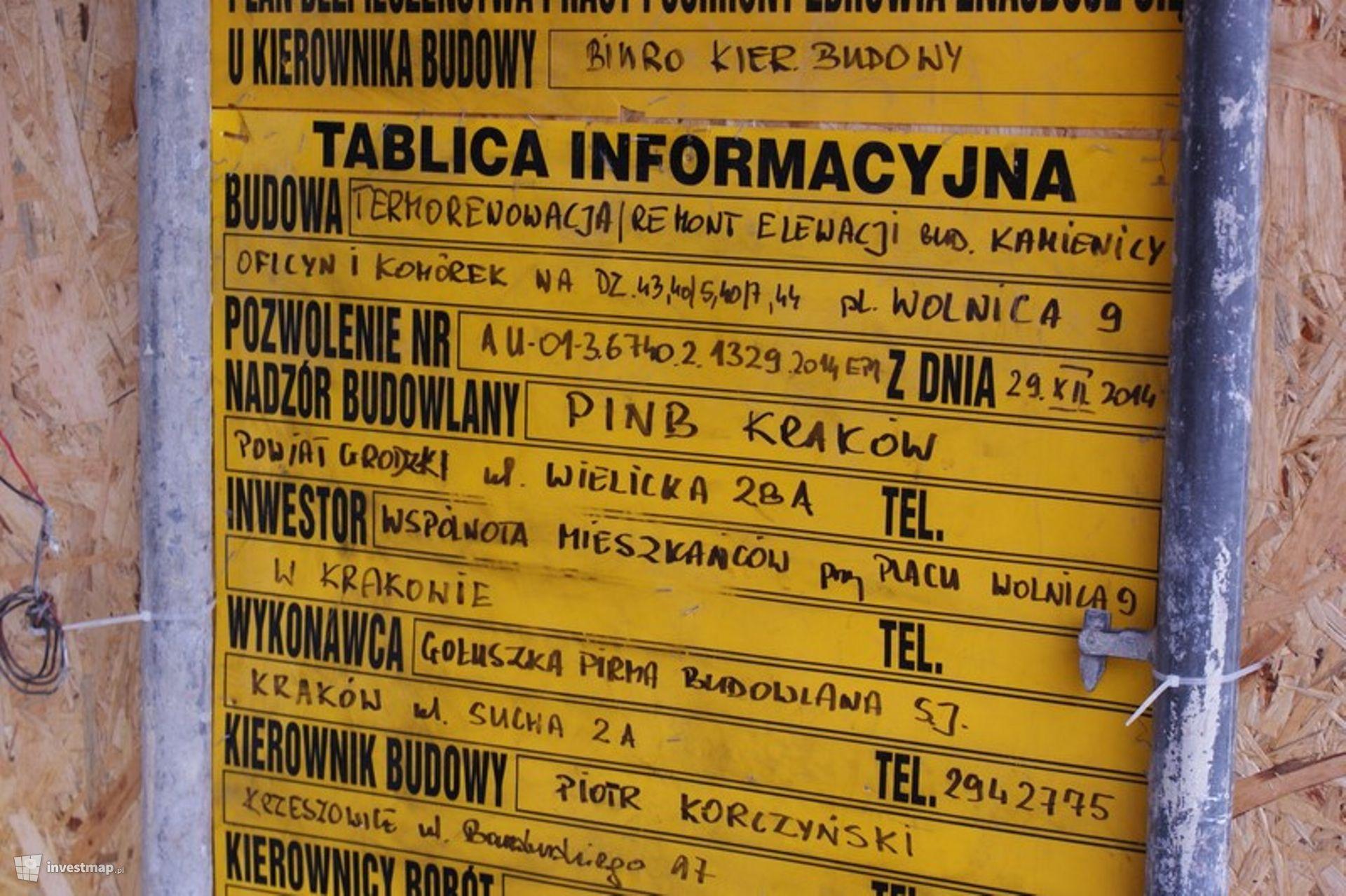 Remont Elewacji, Plac Wolnica 9
