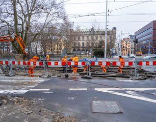 Remont rozjazdu tramwajowego Krupnicza Podwale 507024