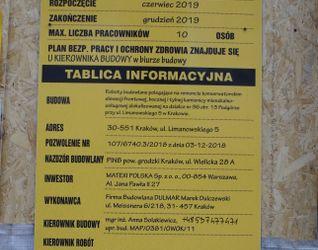 [Kraków] Remont, Przebudowa, ul. Limanowskiego 5 452254