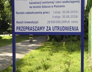 [Poznań] Modernizacja kanalizacji sanitarnej i sieci wodociągowej (Sołacz) + ul. Małopolska (remont) 166309