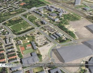 [Katowice] Układ drogowy w Strefie Kultury 31655