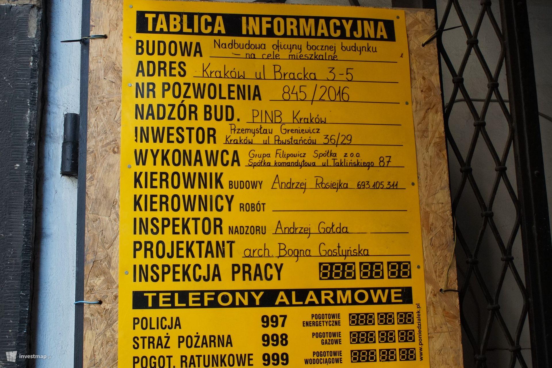 Remont Kamienicy, ul. Bracka 3,5