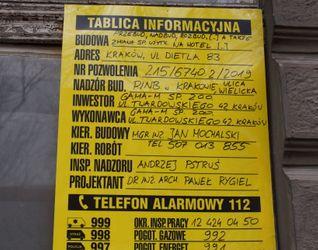 [Kraków] Hotel, ul. Dietla 83 512431