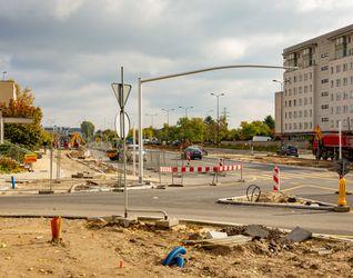 [Warszawa] Budowa Alei Polski Walczącej 398001