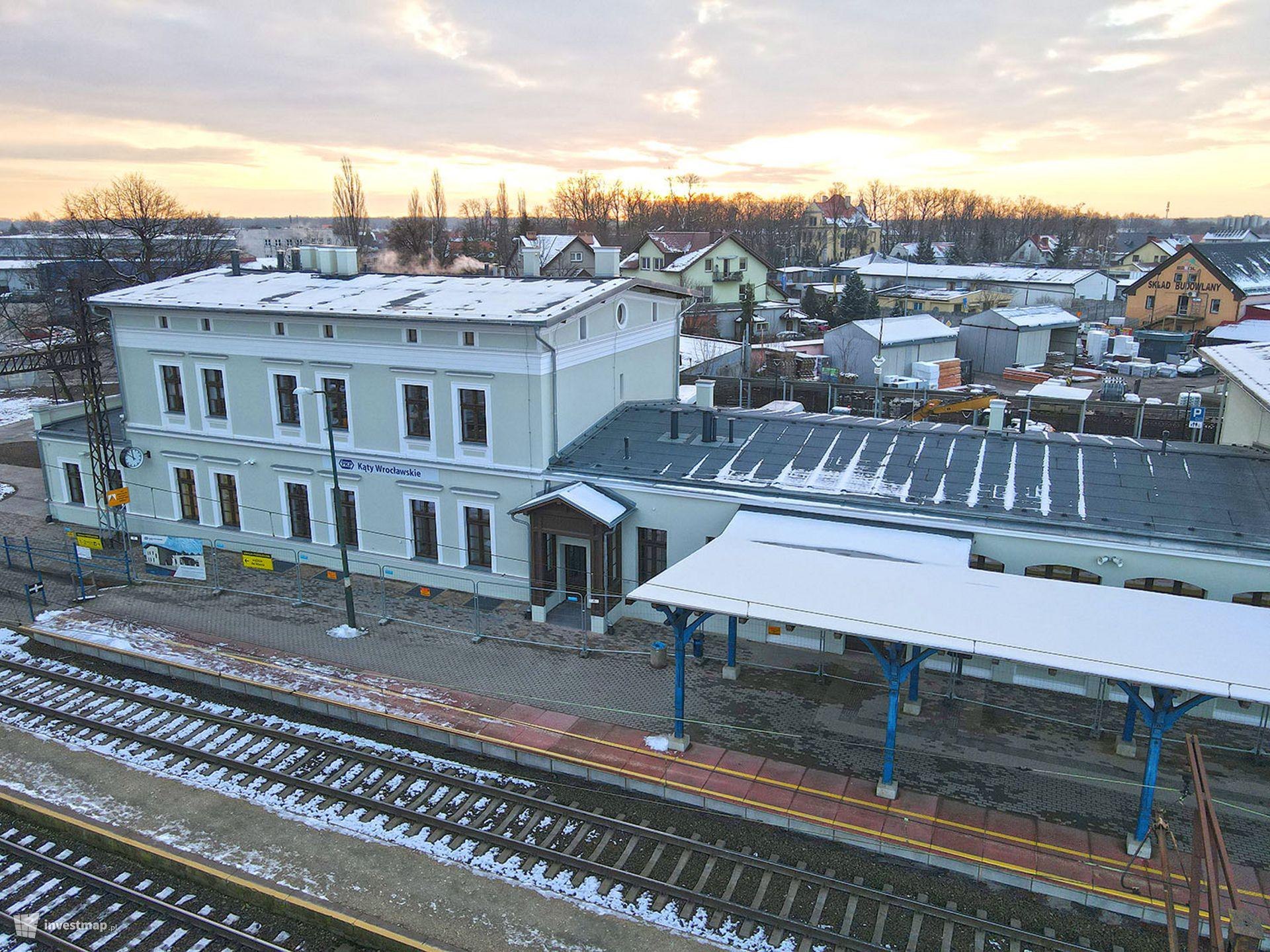 Dworzec kolejowy w Kątach Wrocławskich