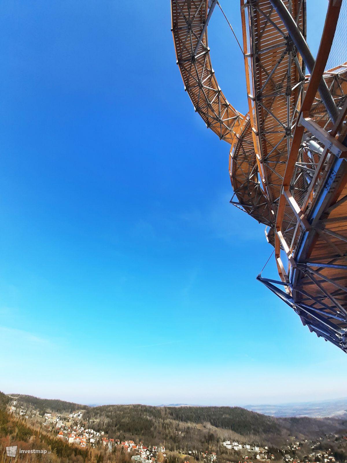 Zdjęcie Sky Walk - wieża widokowa ze ścieżką edukacyjną w koronach drzew fot. Paweł Harom