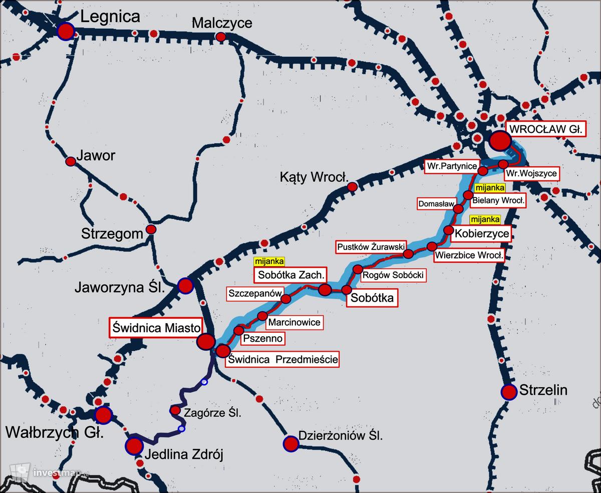 Wizualizacja Przebudowa linii kolejowej nr 285 na odcinku Wrocław Główny – Świdnica Przedmieście dodał Paweł Harom
