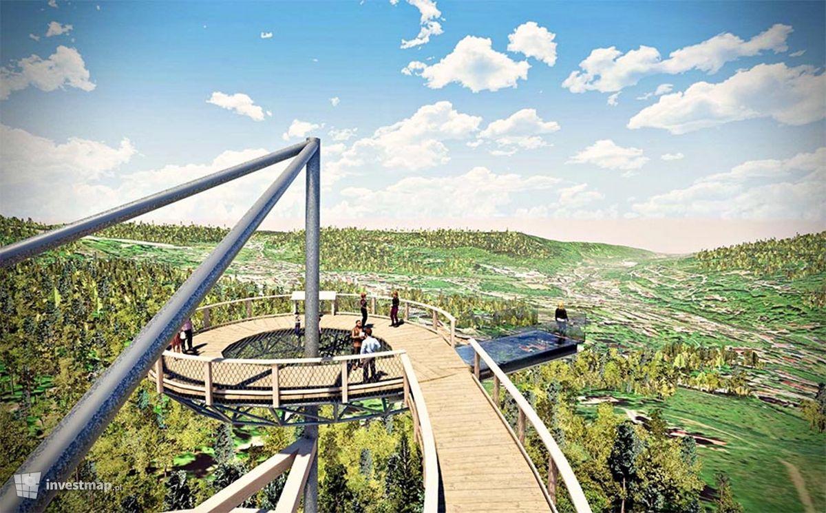 Wizualizacja Sky Walk - wieża widokowa ze ścieżką edukacyjną w koronach drzew dodał Orzech