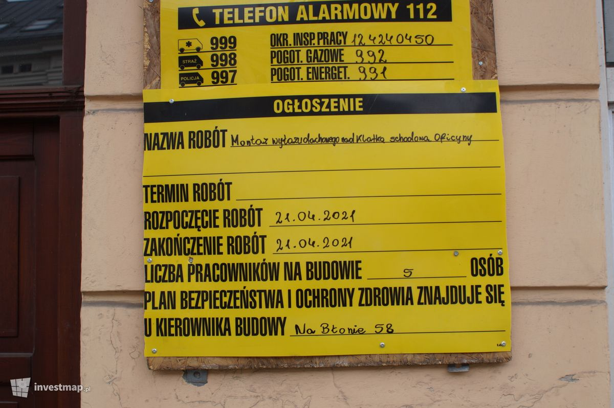 Zdjęcie Remont Kamienicy, ul. Limanowskiego 4 fot. Damian Daraż
