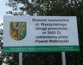 [Wałbrzych] Przebudowa ul. Stefana Wyszyńskiego 22303