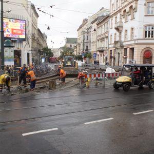 [Kraków] Przebudowa skrzyżowania pod Teatrem Bagatela 434476
