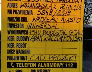 Budynek handlowy, ul. Wojanowska 461900