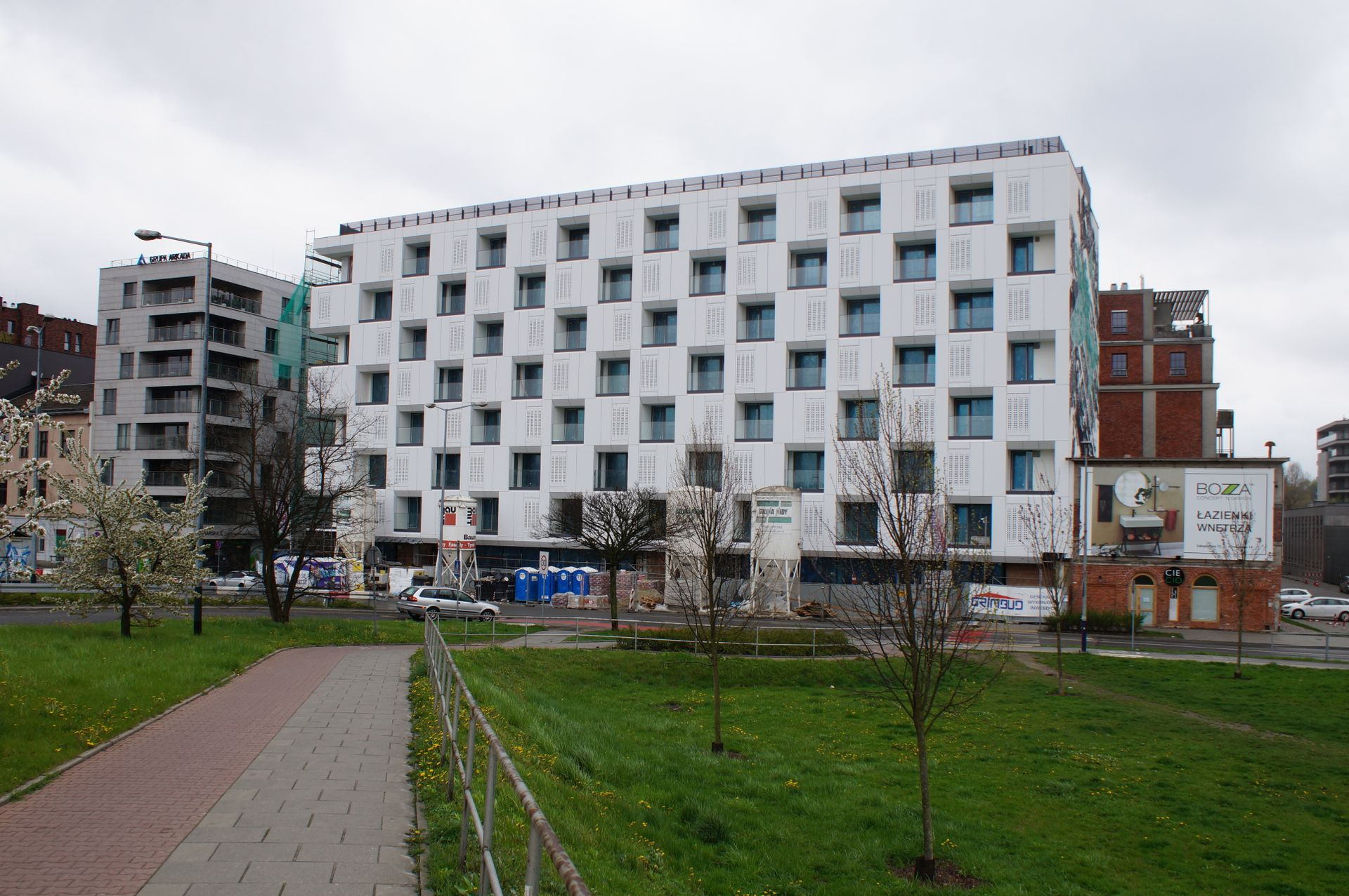 Kraków: Trwa budowa budynku wielorodzinnego Zabłocie Concept House II