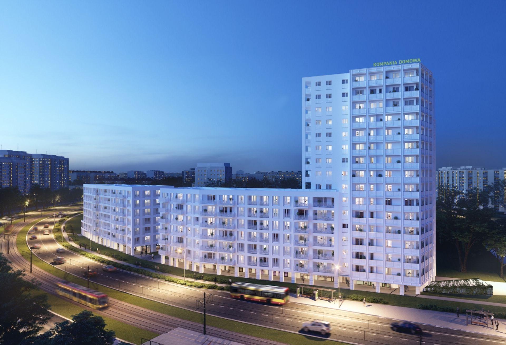 Warszawa: Biały Dom – najwyższy budynek na Białołęce od Kompanii Domowej pnie się w górę