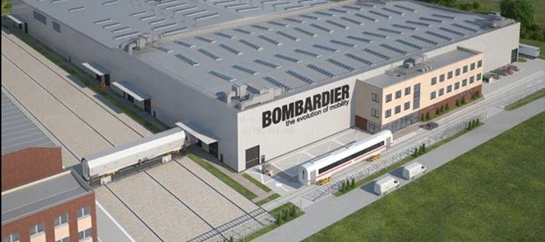 Wizualizacja nowej hali produkcyjnej Bombardiera we Wrocławiu (źródło: materiały inwestora)