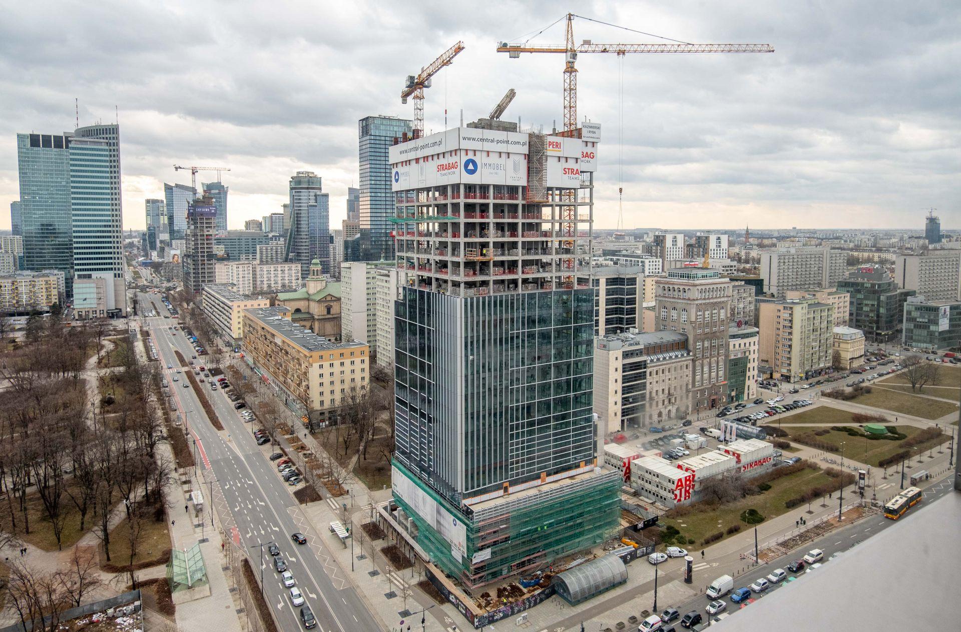Warszawa: Przy ulicy Zielnej 37 powstaje biurowiec Central Point [FILM + ZDJĘCIA]