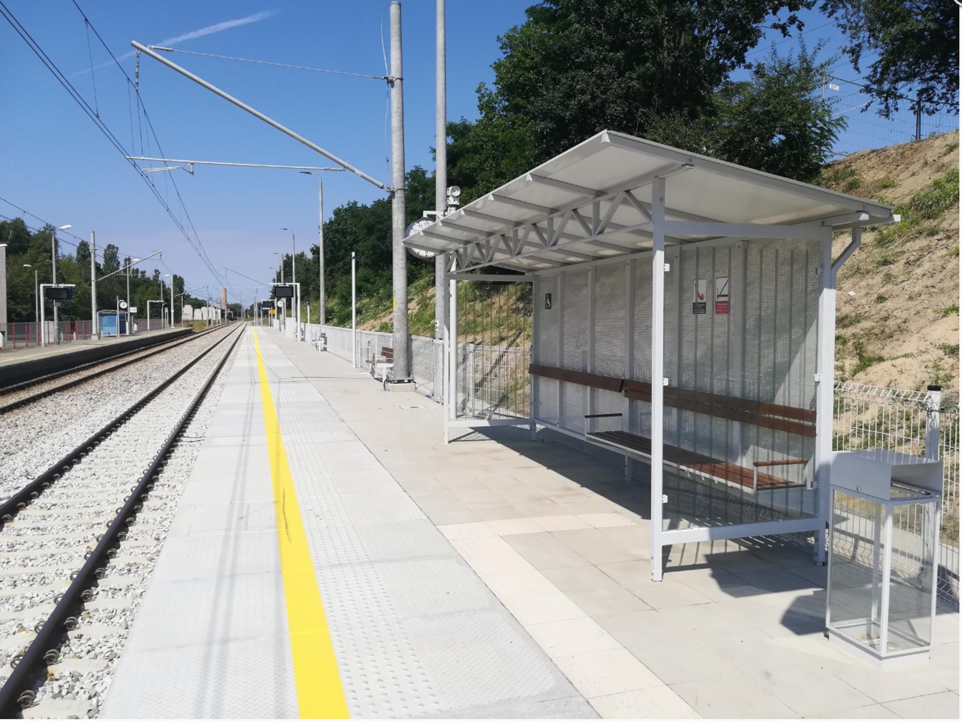 Łódź: Bliski koniec remontu peronu Łódź Marysin. PKP inwestuje też w 5 nowych przystanków