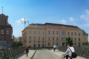 Wrocław: Luni – zabytkowy gmach farmacji na Starym Mieście zmienia się w biurowiec [WIZUALIZACJE]