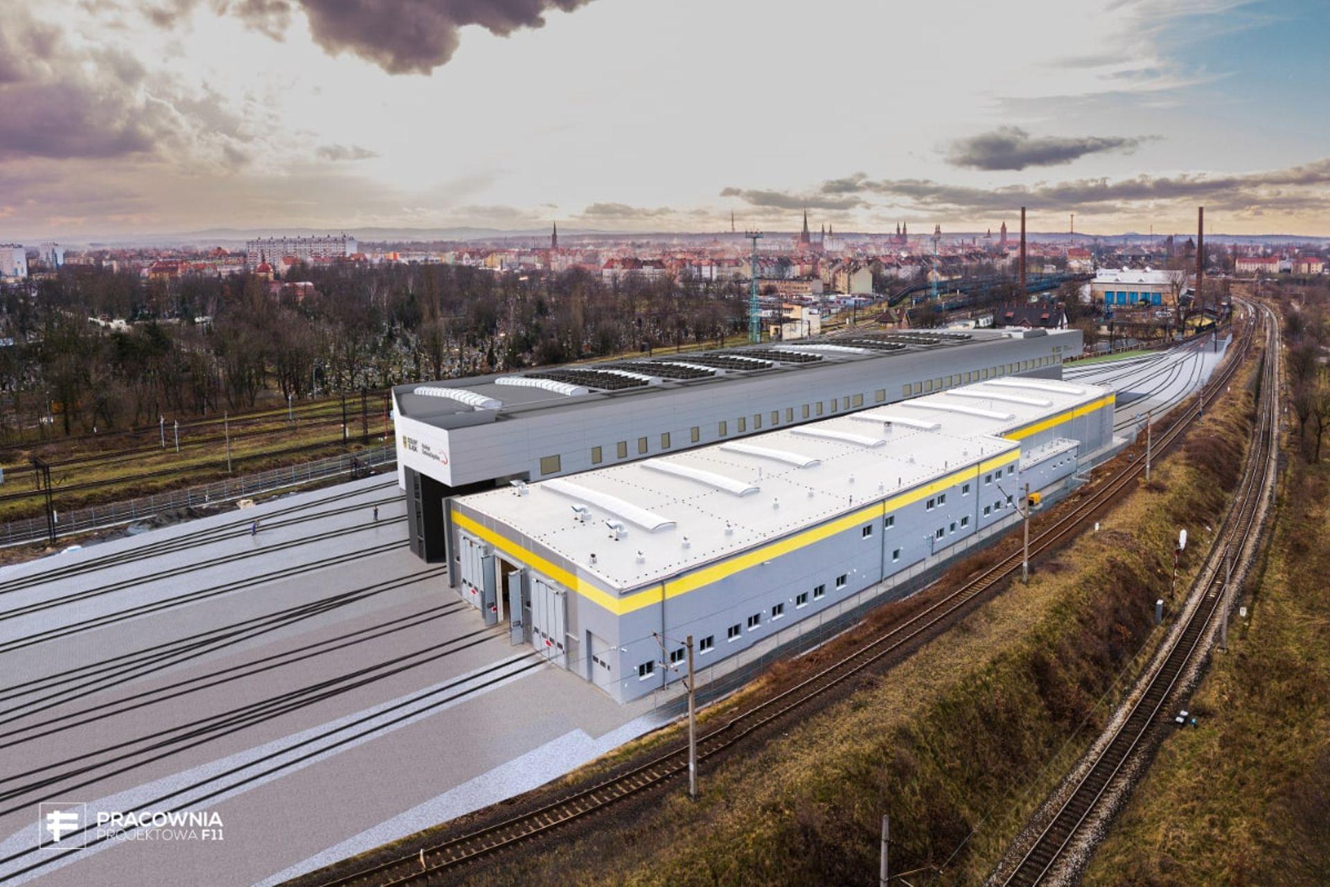 Nowa hala serwisowa Kolei Dolnośląskich w Legnicy coraz bliżej