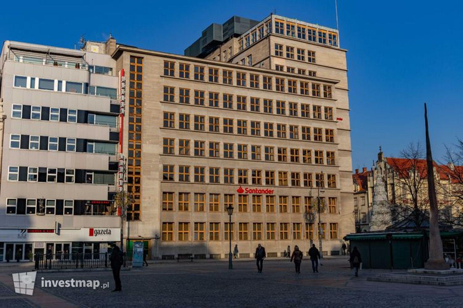 Wrocław: Gmach banku w Rynku trafił do rejestru zabytków
