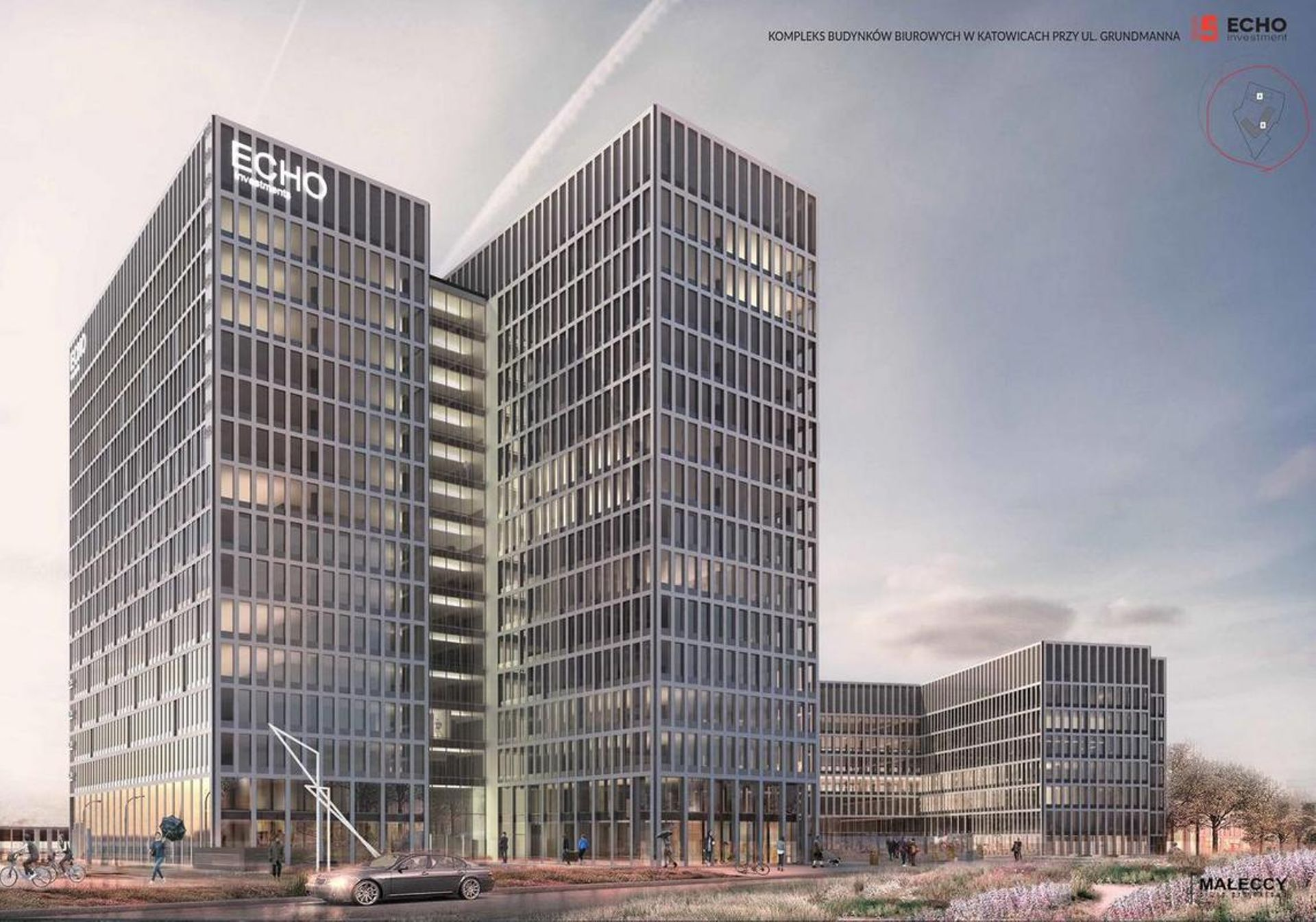 [Katowice] Echo Investment otrzymało 65 mln euro kredytu na budowę Face2Face w Katowicach