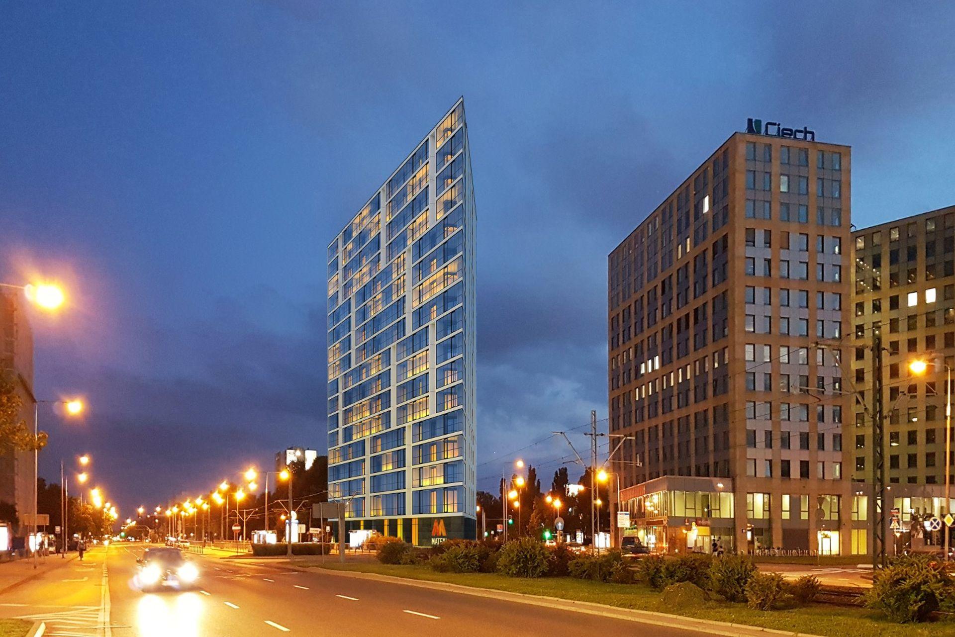 Matexi buduje w Warszawie 16-piętrowy apartamentowiec Puławska 186 [FILM]