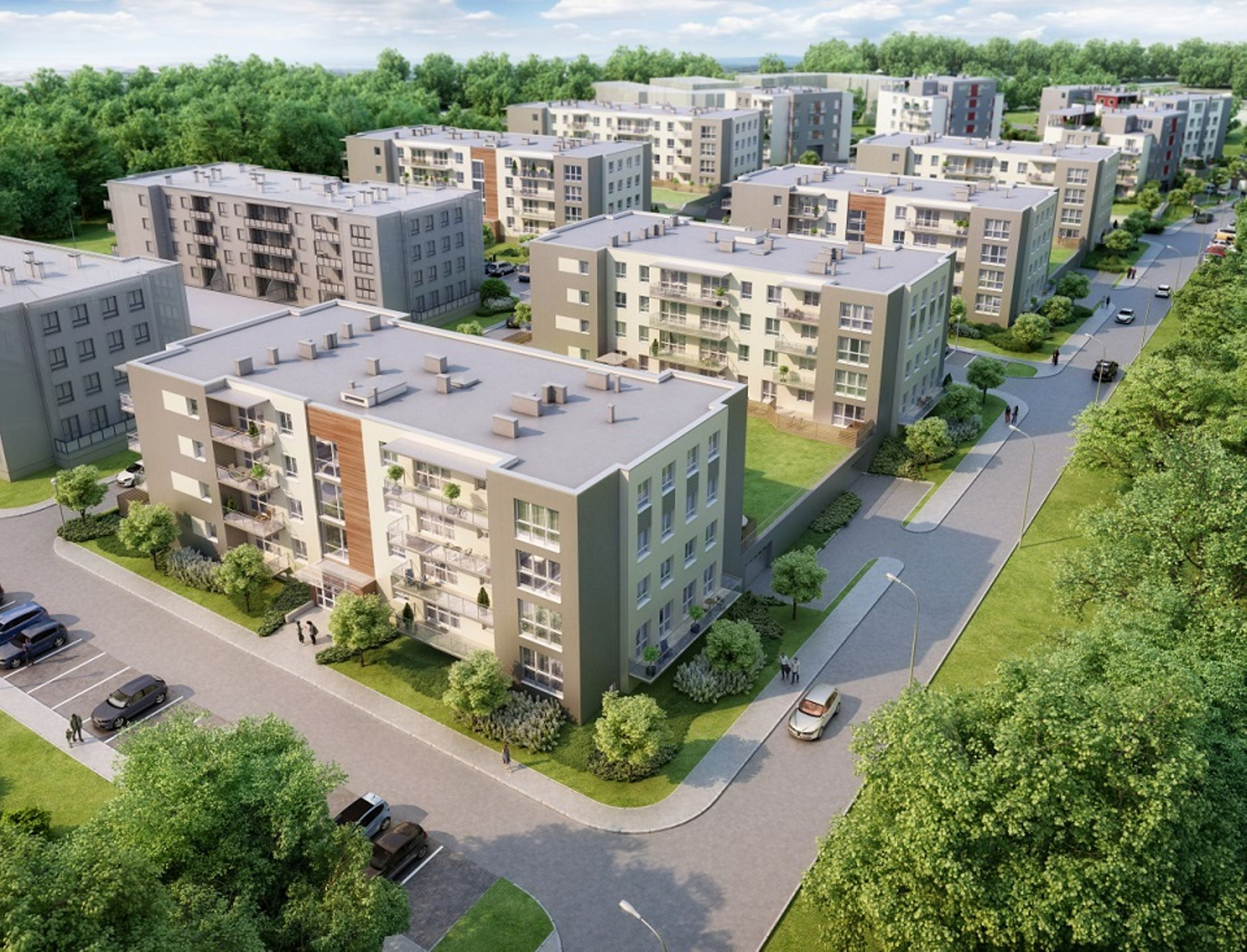[Zielona Góra] Budowa osiedla Green Home w Zielonej Górze w połowie