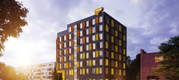 Wrocław: Legnicka 60C – zamiast biurowca, przy Magnolii powstanie aparthotel [WIZUALIZACJE]