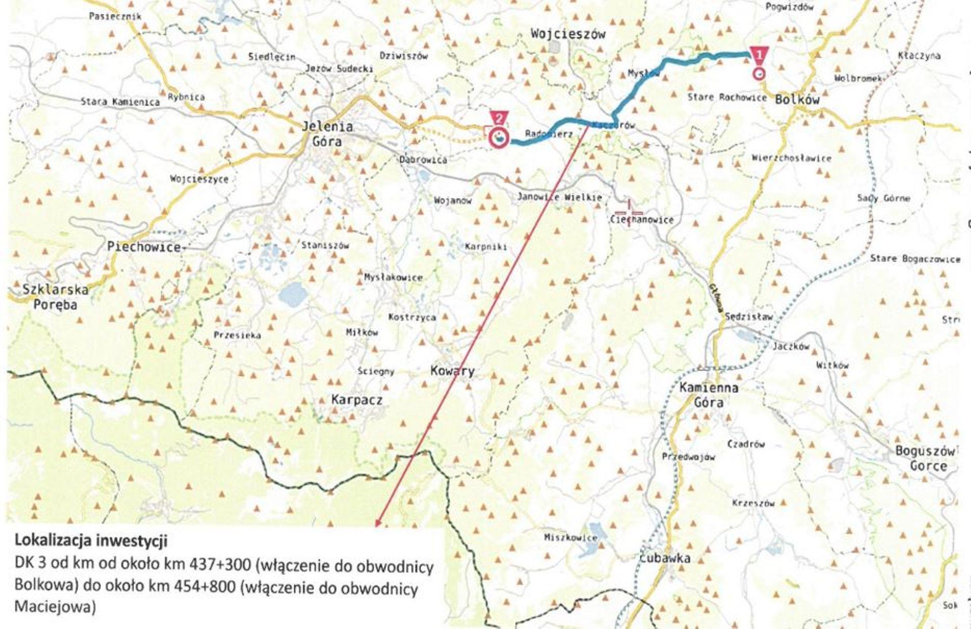 Ważna inwestycja na drodze DK3 do Jeleniej Góry. Powstanie obwodnica Kaczorowa