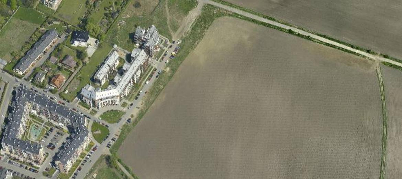 Teren, na którym Dach Bud PBO wybuduje nowe osiedle na wrocławskich Wojszycach (foto: ukosne.gis.um.wroc.pl)