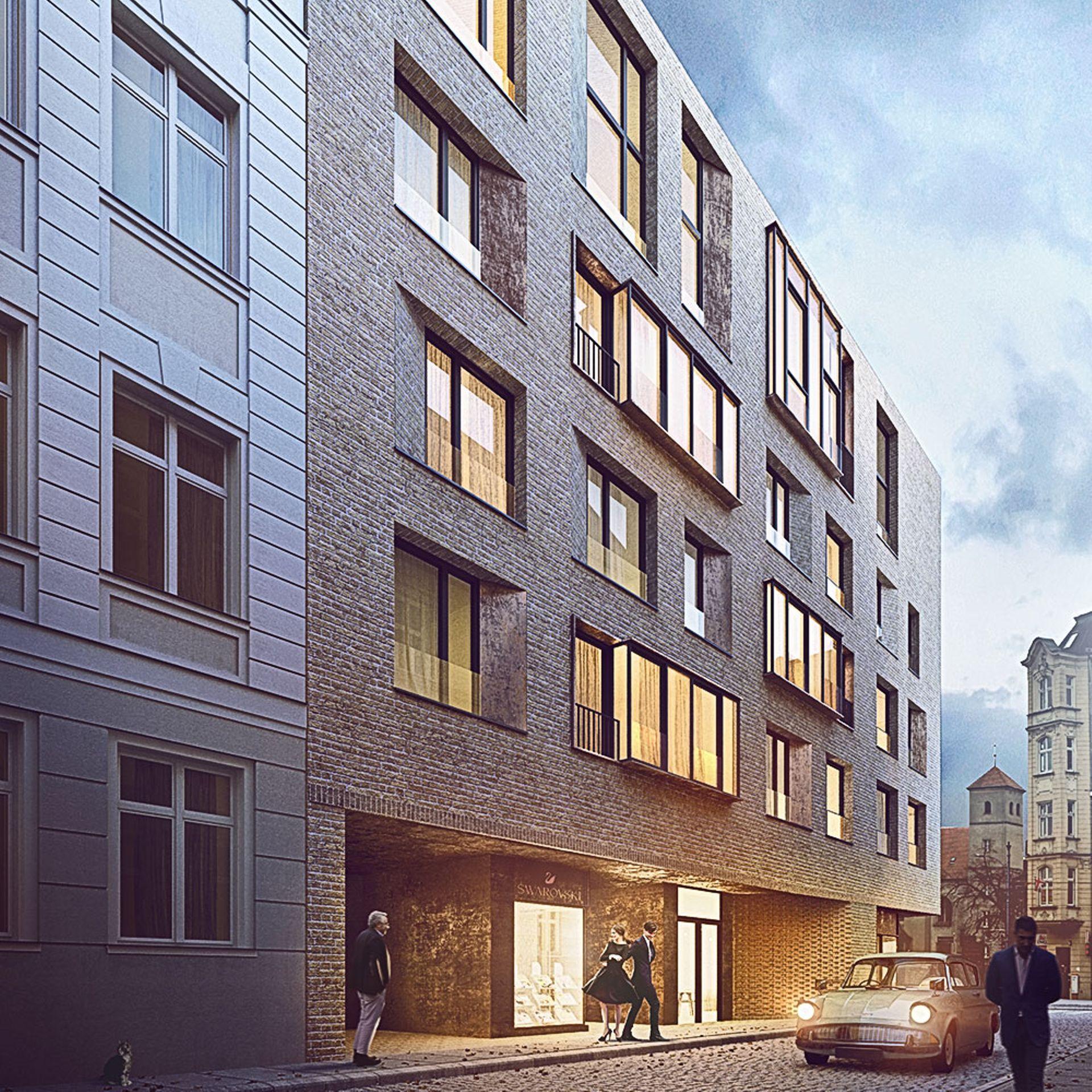 [Poznań] Na poznańskim Starym Mieście rośnie apartamentowiec