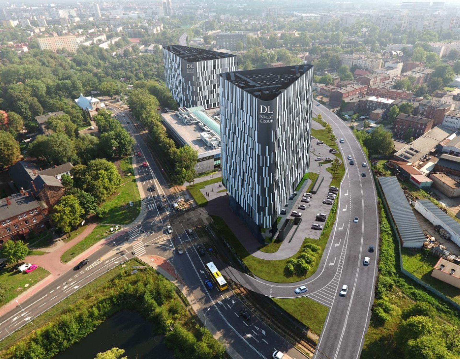 Trójkątny biurowiec DL Tower powstaje w Katowicach
