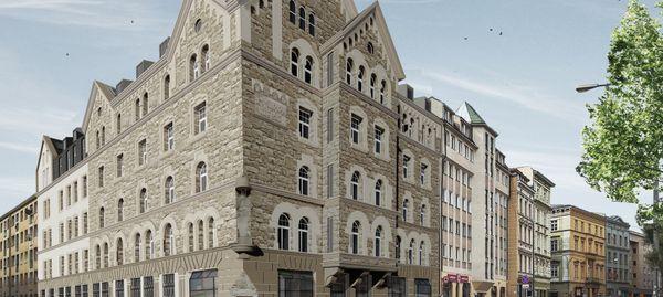 Wrocław: Rafin Developer przywróci zabytkowemu hotelowi w centrum miasta pierwotny wygląd [WIZUALIZACJE]