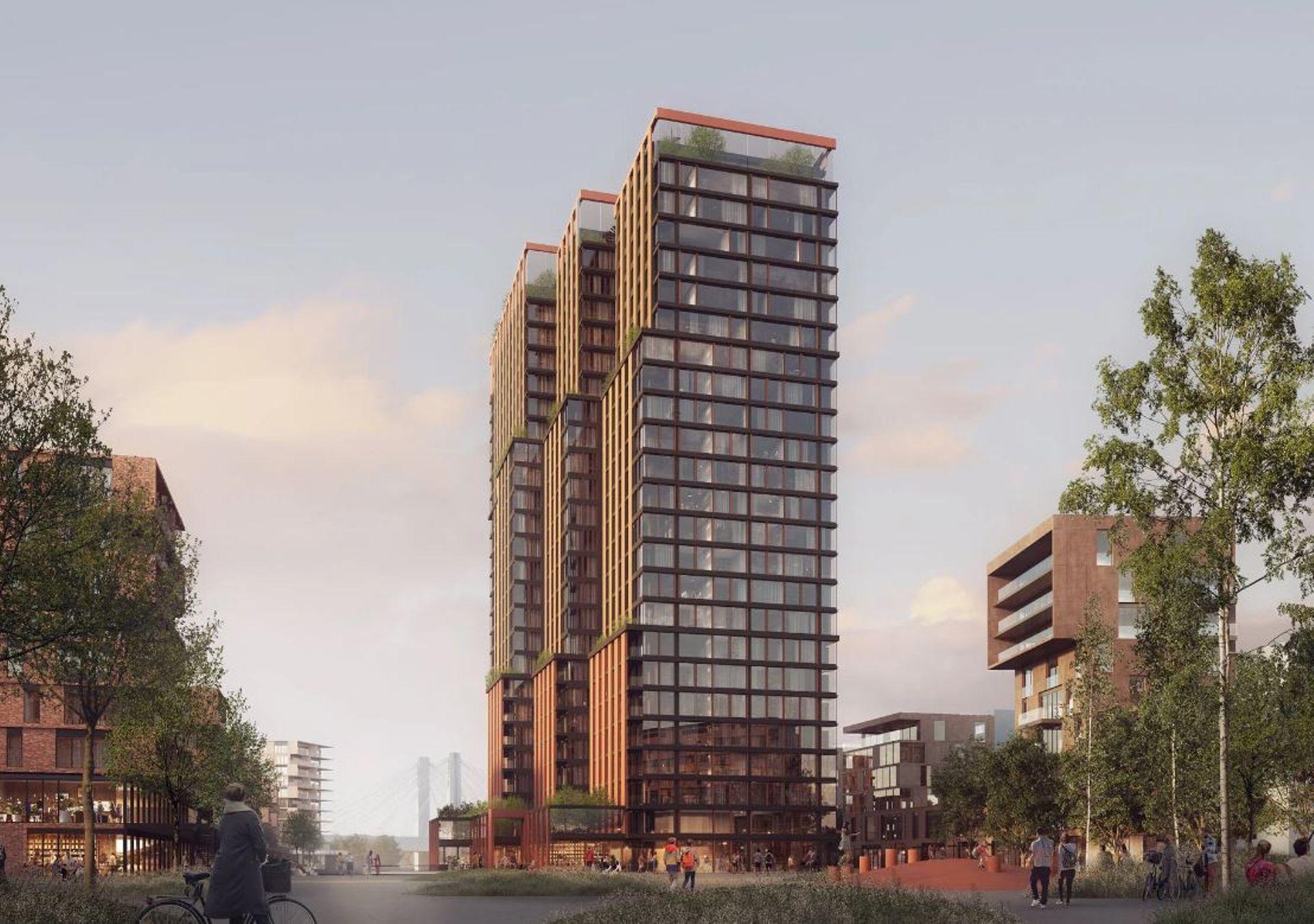 Wrocław: Wiemy już jak będzie wyglądał najwyższy, 80-metrowy budynek w Porcie Popowice