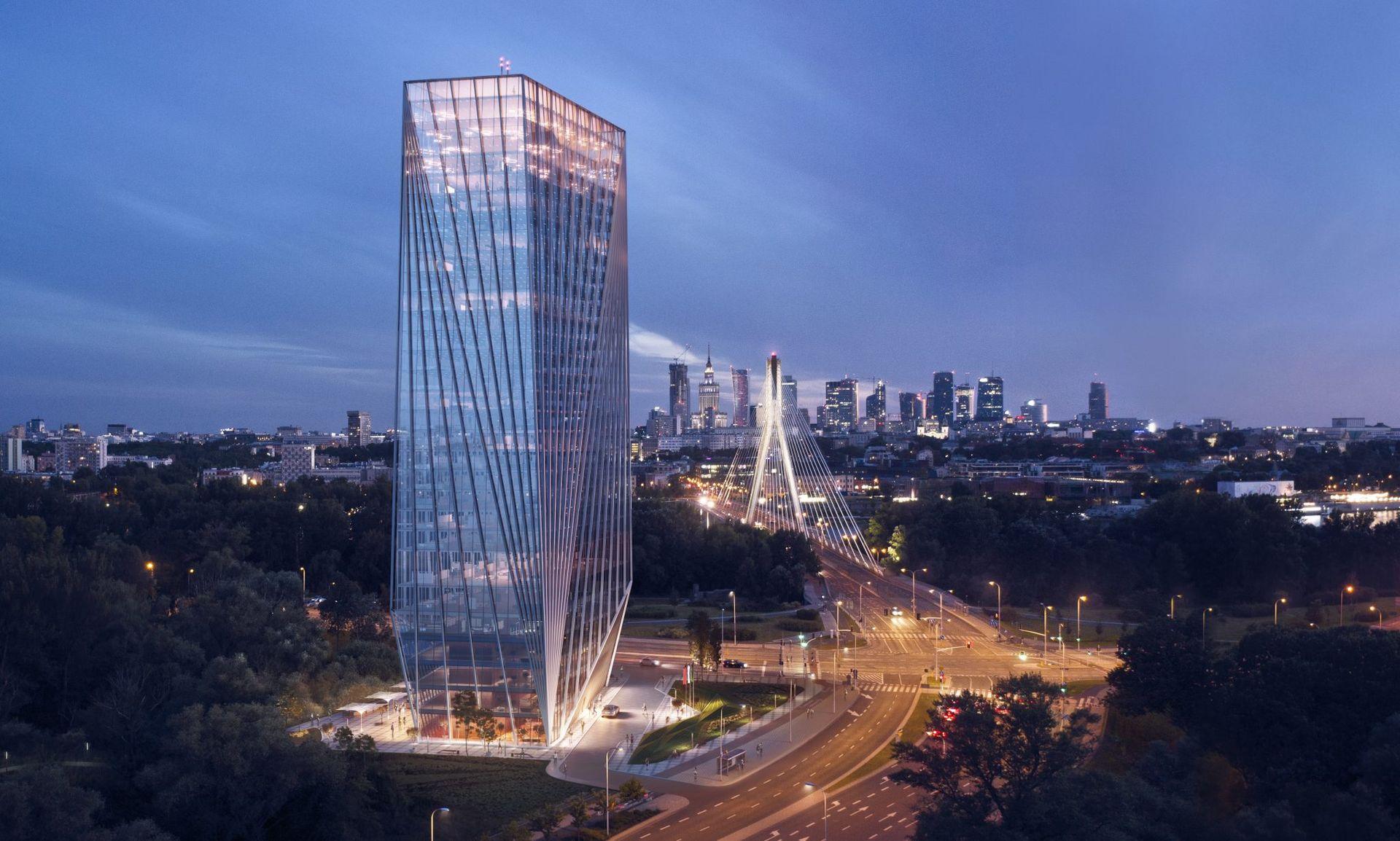 Warszawa: Pracownia Kuryłowicz Architekci zaprezentowała projekt nowego wieżowca