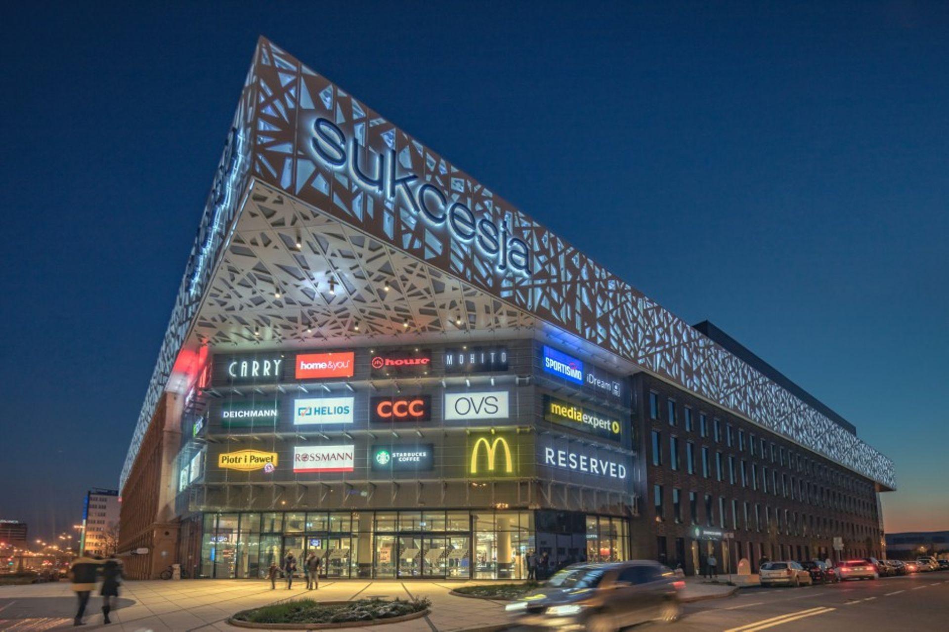 Łódzkie centrum handlowe Sukcesja zostało wystawione na sprzedaż