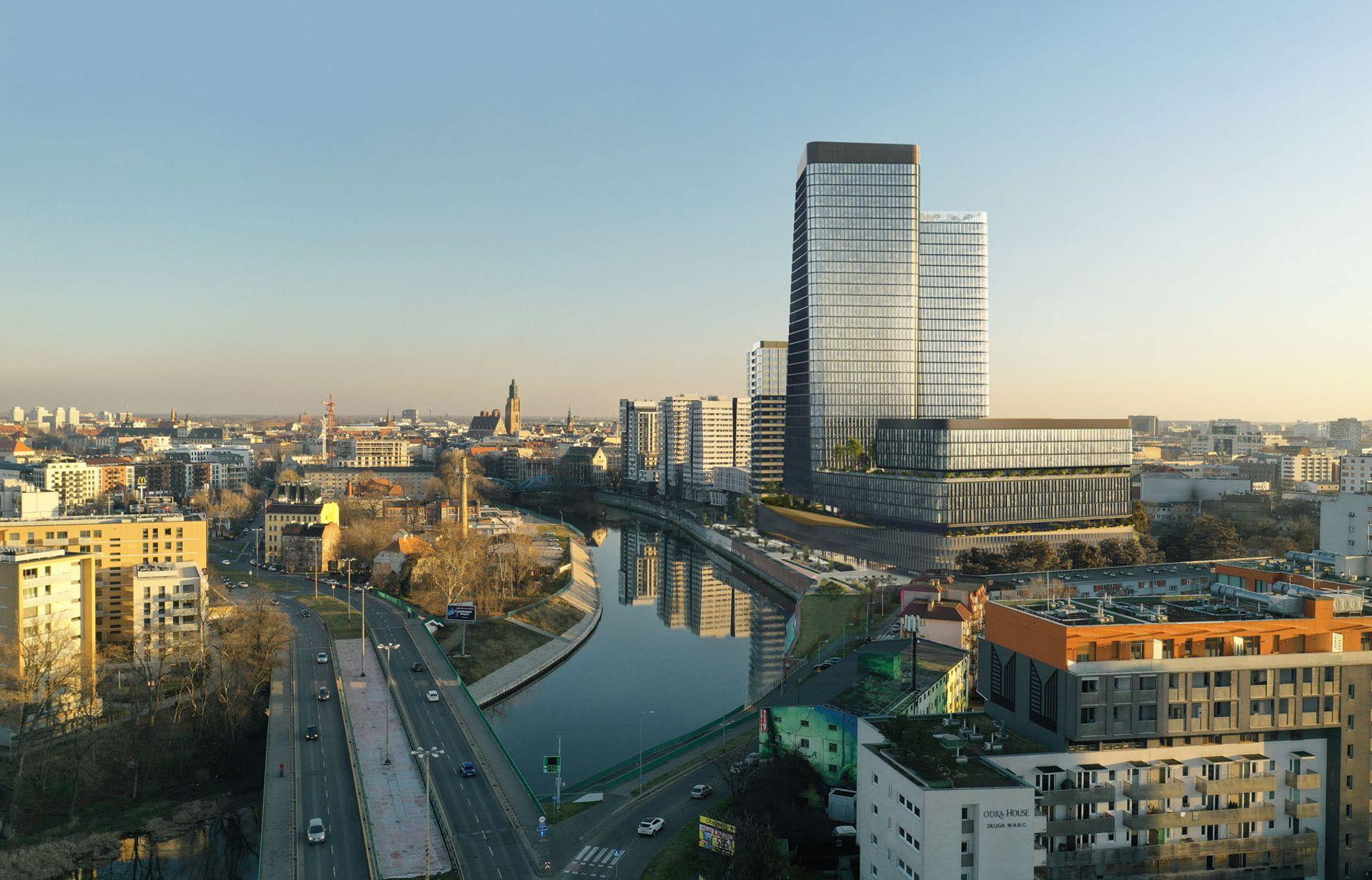 Wrocław: Quorum – Cavatina ruszy z budową pierwszej planowanej wieży nad Odrą. Będzie nowy taras widokowy