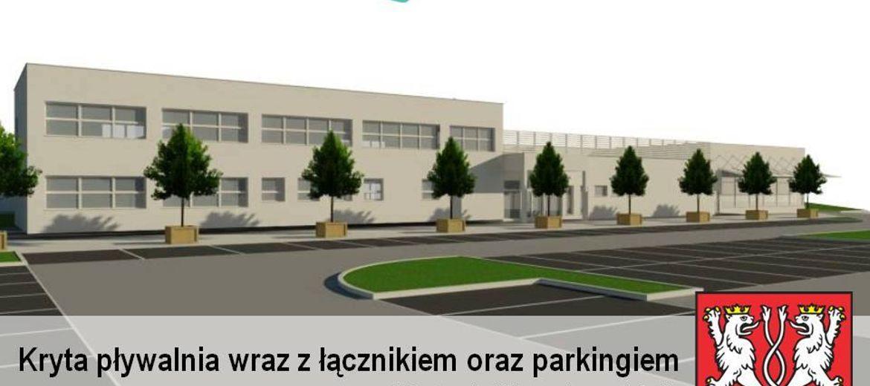 Wizualizacja projektu nowej krytej pływalni w Kątach Wrocławskich (źródło:  materiały inwestora)