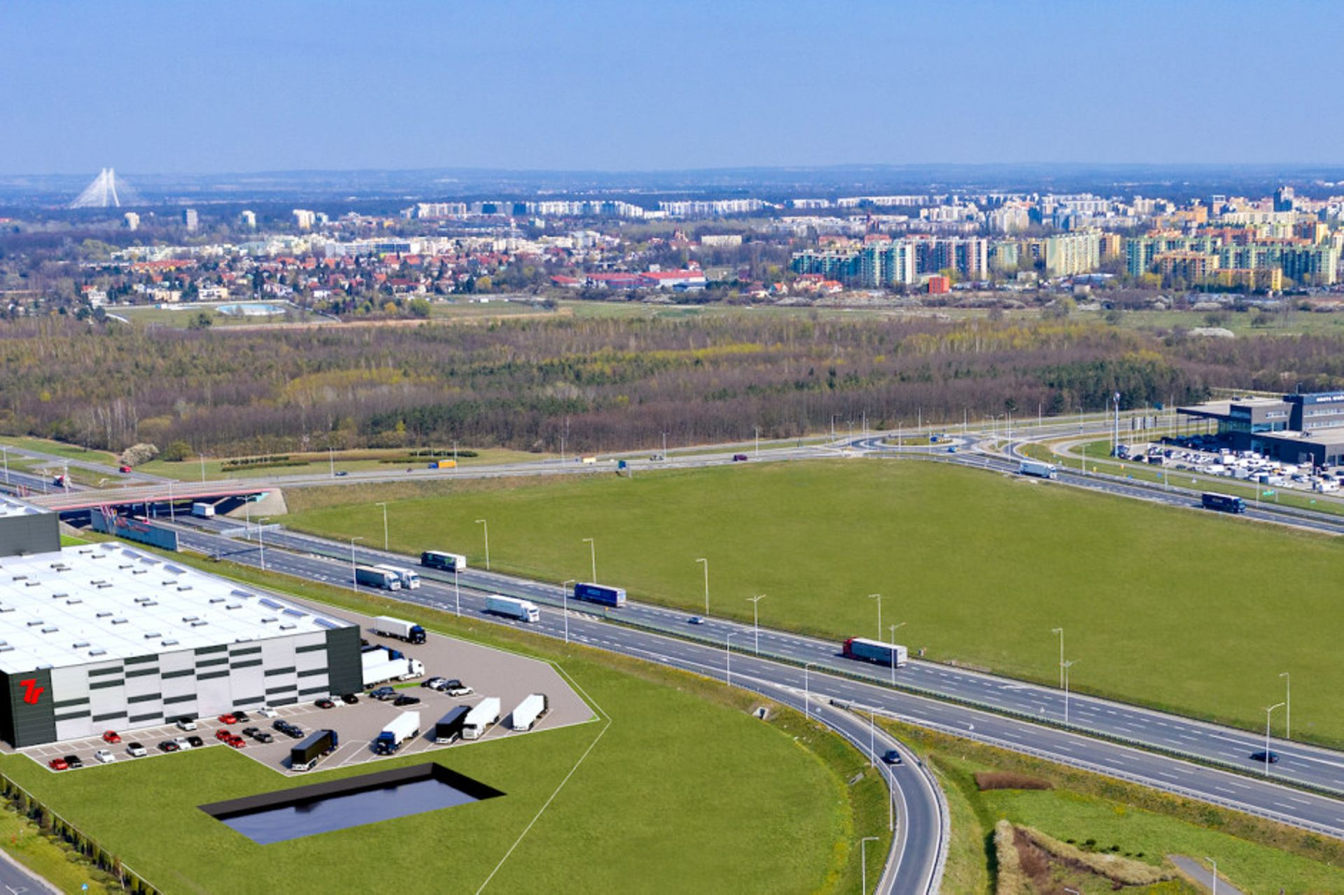 We Wrocławiu przy węźle AOW-Lotnisko powstanie nowy magazyn wysokiego składowania 7R City Flex
