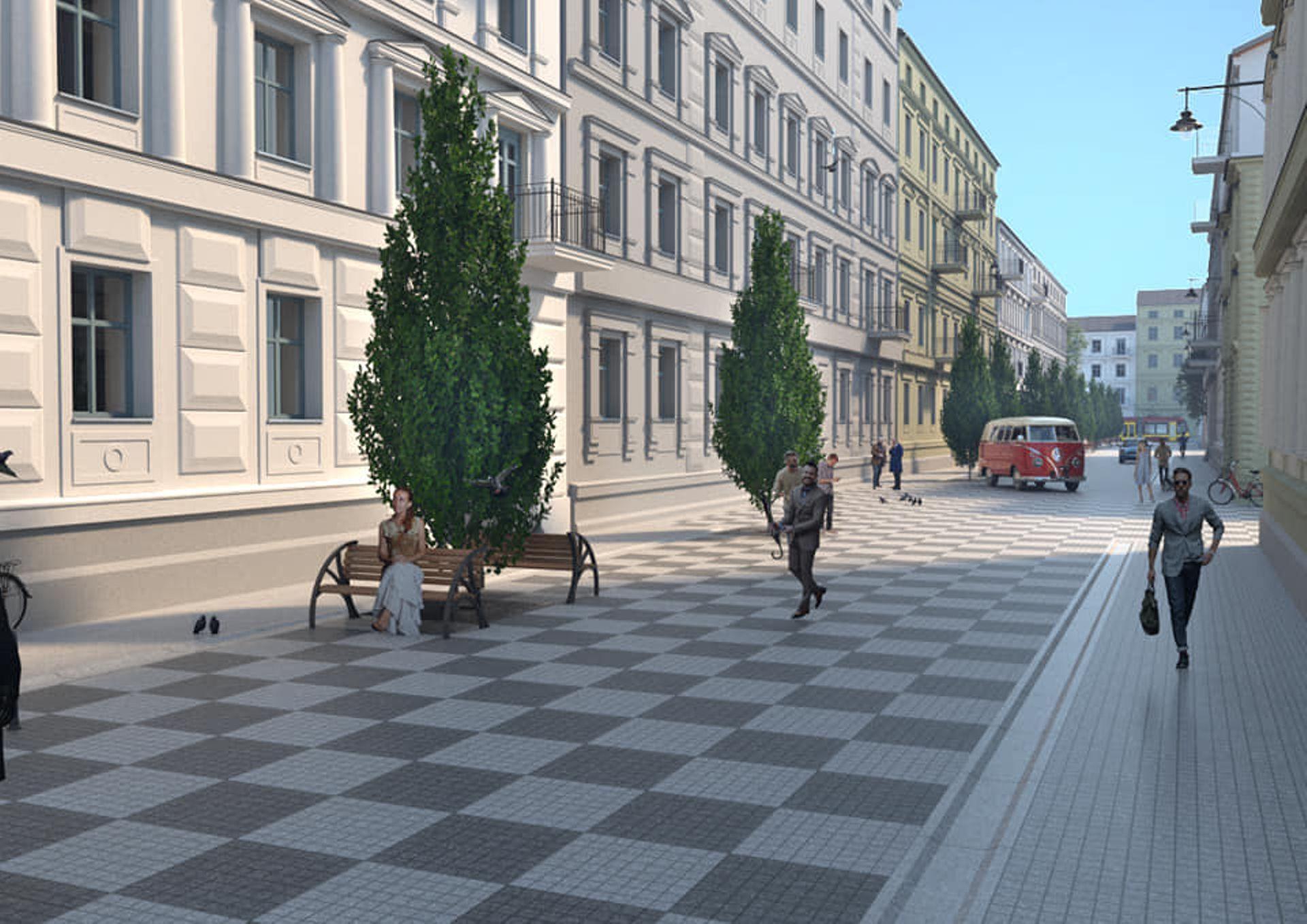 Łódź: Ulica Włókiennicza przechodzi gruntowny remont [FILM + WIZUALIZACJE]