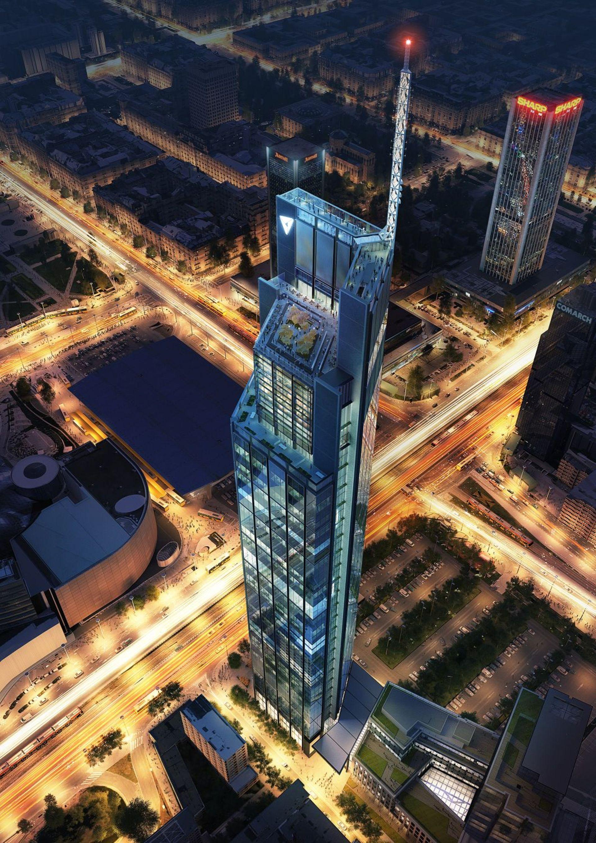 Warszawa: Przy ulicy Chmielnej powstaje Varso Tower – najwyższy budynek w UE [FILM]