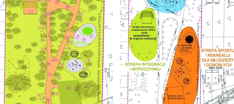 Plan całego parku Integracja-Sport-Zdrowie-Wypoczynek (wizualizacja:  wroclaw.pl)