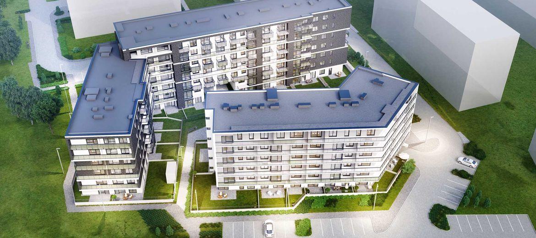 Wizualizacja I etapu osiedla od strony ulicy Obornickiej (źródło: materiały inwestora)