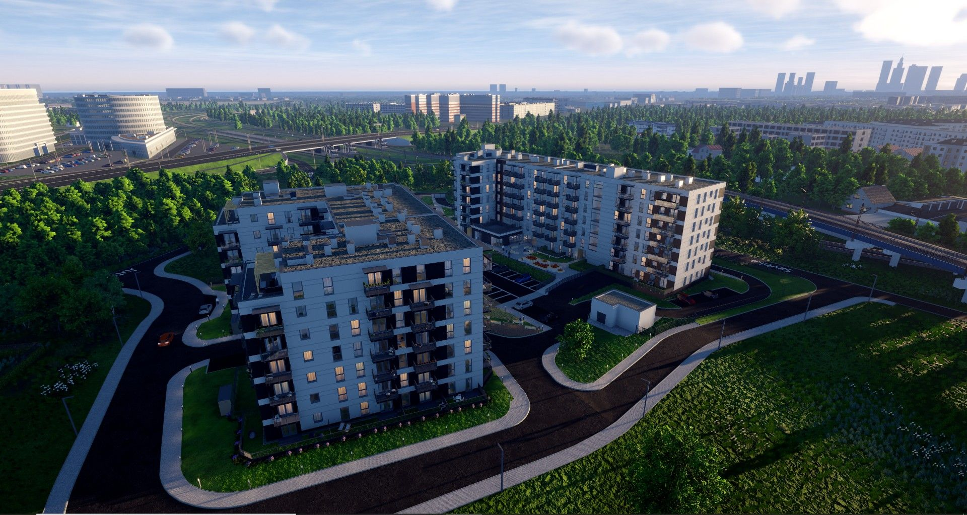 Warszawa: Aurora – prawie tysiąc nowych mieszkań na granicy Ochoty i Włoch od Danteksu
