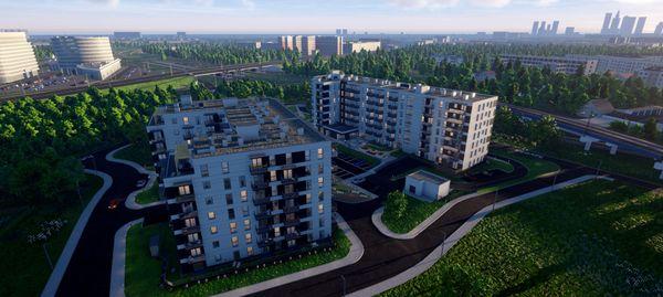 Warszawa: Aurora – prawie tysiąc nowych mieszkań na granicy Ochoty i Włoch od Danteksu [WIZUALIZACJE]